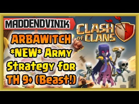 Clash of Clans - ARBAWITCH *NEW* Witch Army Strategy for Town Hall 9+ (Witch Gameplay!!!)