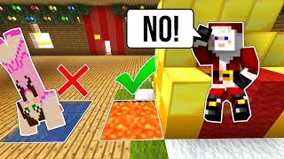 Minecraft: ESCAPE SANTA'S WORKSHOP!!! - FIND THE BUTTON SANTA'S VILLAGE - Custom Map