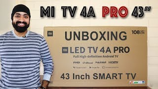 Mi TV 4A PRO 43 inch UNBOXING & OVERVIEW