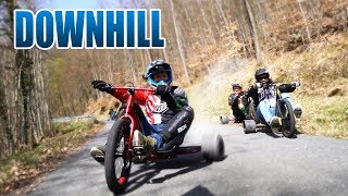 DOWNHILL DRIFT TRIKE OHNE MOTOR | Driftwerk Triad Review - Test [Deutsch/German]