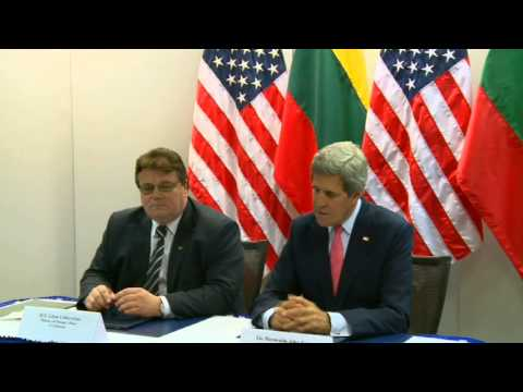 Secretary Kerry Delivers Remarks With Lithuanian Foreign Minister Linas Linkevicius