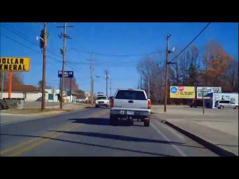 Driving around downtown El Dorado, AR. Filmed on December 30, 2011.
