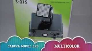 MINI CABEZA MOVIL LED RGB AUTOMATICA O DMX