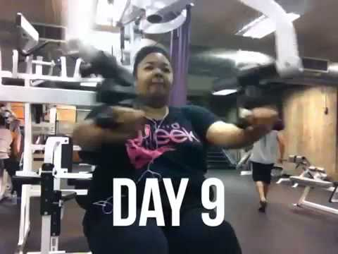 Woman goes to the gym for 100 days and makes this timelapse video!
