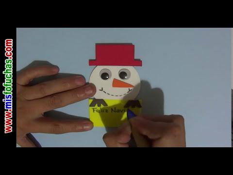 Cómo hacer tarjetas de navidad fácil y rápido Tarjeta navideña en foami o goma eva