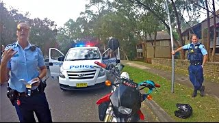 Motorbike Argues With Australian Police Uncut
