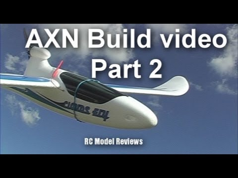 AXN Clouds Fly Floater Jet RC plane build video (part 2 of 3)
