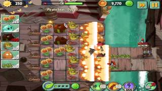 Plants vs Zombies 2 : Pirate Seas Day 15 Walkthrough