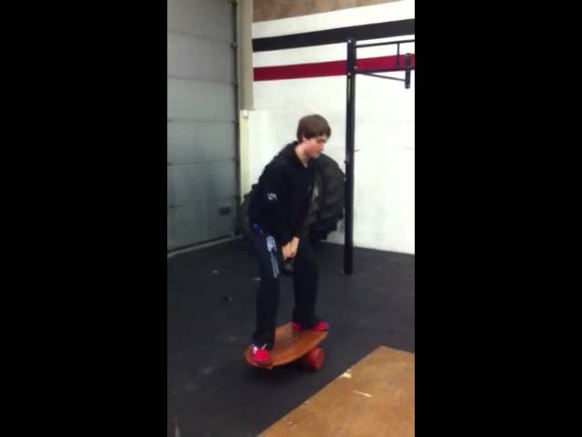 Brad on the balance board