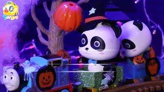 Baby Panda's Pumpkin Castle Adventure | Play Doh for Kids | Halloween Cartoon | Kids Toys | ToyBus