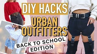 DIY URBAN OUTFITTERS CLOTHING HACKS: Back To School Edition! | DIY | Nava Rose