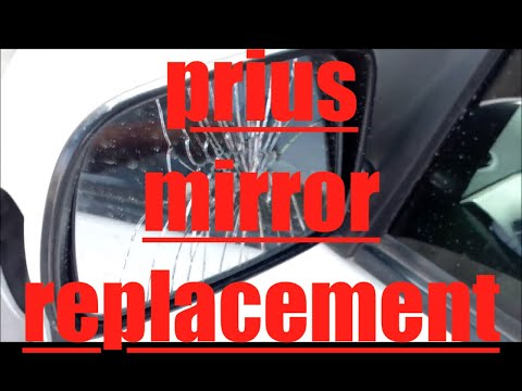 DIY How to replace install side rear view mirror 2008 Toyota Prius