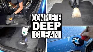 DIRTY CAR DETAILING // Complete Interior Exterior Deep Cleaning of a BMW!