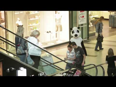 Pandas in the mall. The greenest leaflet campaign for WWF.