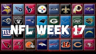 NFL Week 17 Picks & Predictions 2018 | 2019