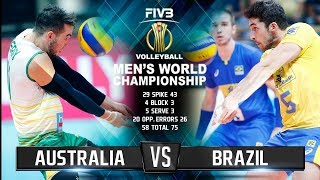 Australia vs. Brazil | Highlights | Mens World Championship 2018