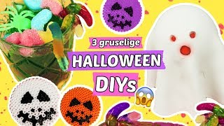 3 CREEPY HALLOWEEN DIYS 😱Geister, Glibber Snacks & Deko 🎃Party DIY Ideen!