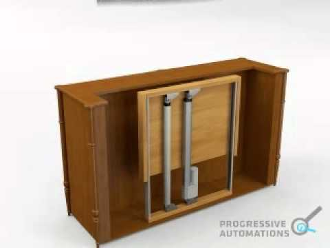 Projects: TV Lift Using Linear Actuators - Progressive ...