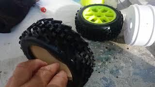 RC Car Tipps Tricks Buggy Reifen  - Wie verklebt man sie am besten? Buggy Reifen Review