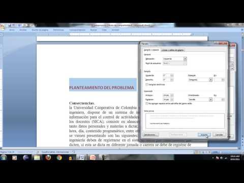 Como insertar indice, numeros de paginas y bibliografia APA en word