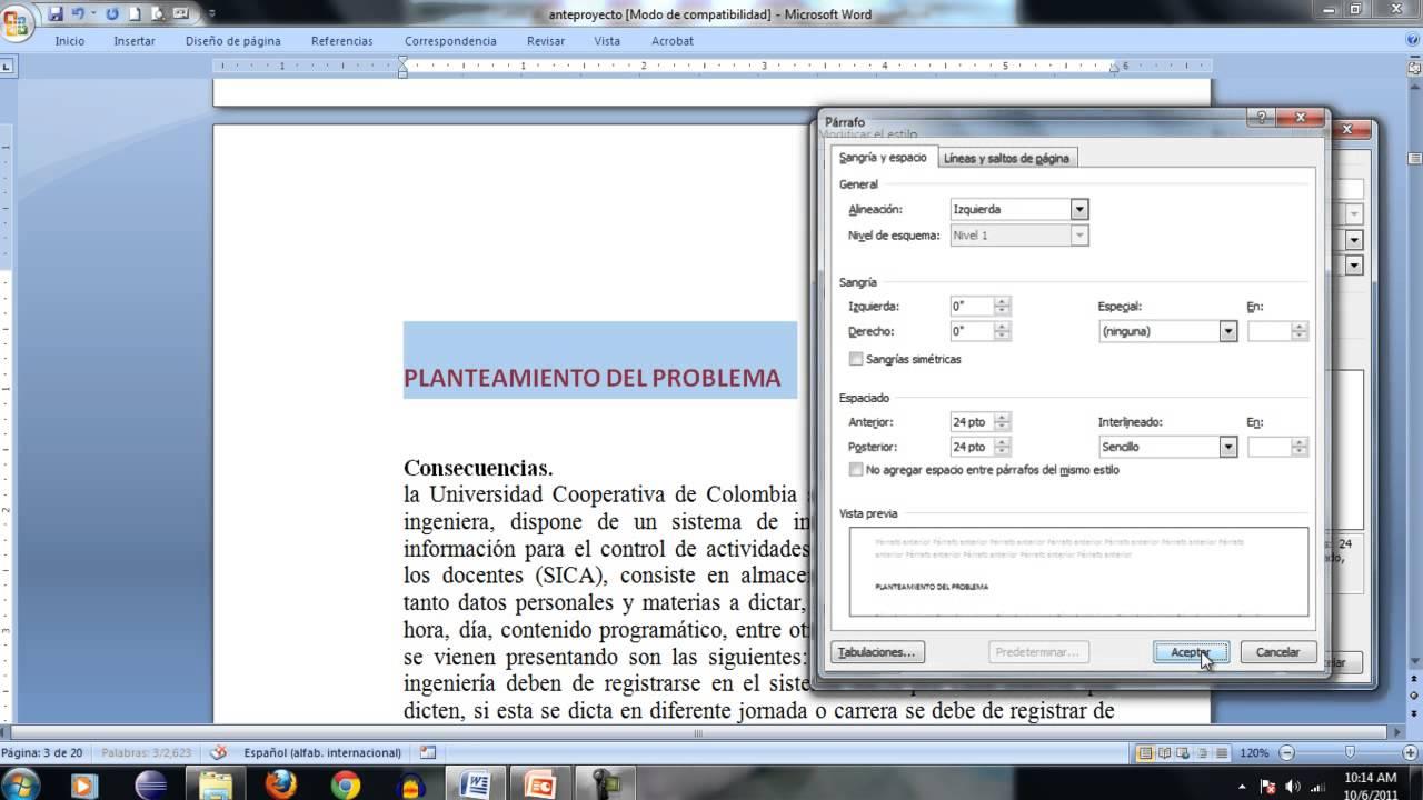 como insertar indice  numeros de paginas y bibliografia