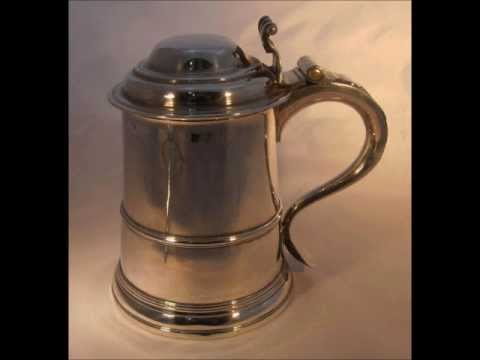 George II Antique Silver Tankard dated 1739