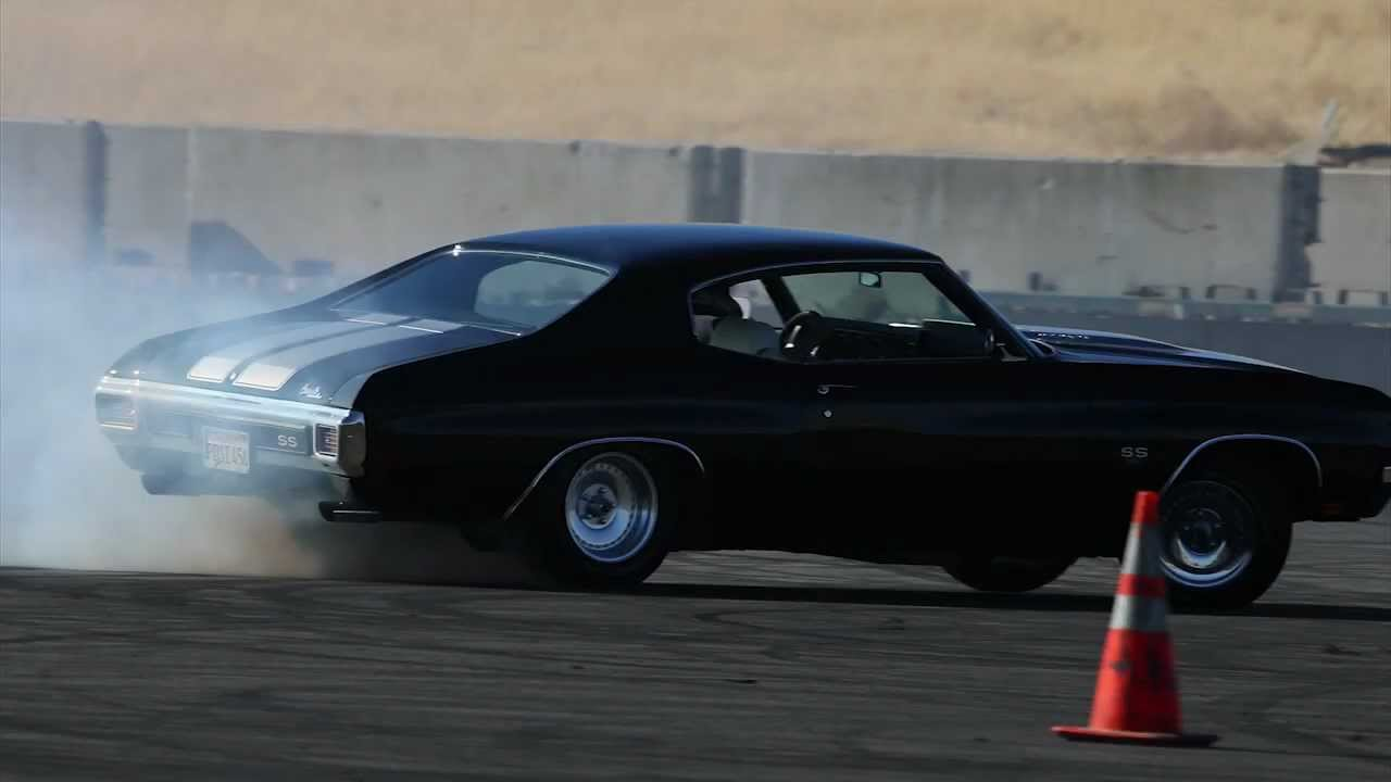 Bad In Black 1970 Chevelle Ss At Thunderhill Raceway Youtube