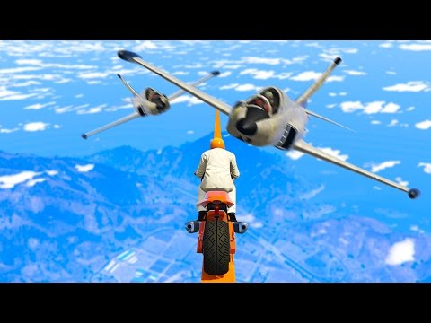 WORLDS HARDEST DODGE THE PLANES! (GTA 5 Funny Moments)