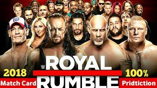 Royal Rumble 2018 Highlights Match Card Predictions | Royal Rumble 2018 Results & Matches |
