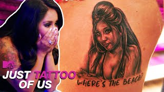 Snooki Can't Believe This Tattoo Of Herself! | Hilarious Tattoo Reveals | Just Tattoo Of Us