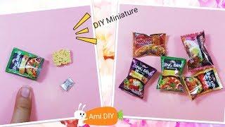 DIY Miniature Noodles / Cách làm mì gói thu nhỏ cho búp bê / Ami DIY