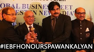 IEBF Excellence Award to Janasena Party Chief Mr.Pawan Kalyan in SocialandCommunity services category