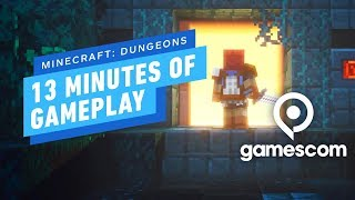 13 Minutes of Minecraft: Dungeons Gameplay - Gamescom 2019