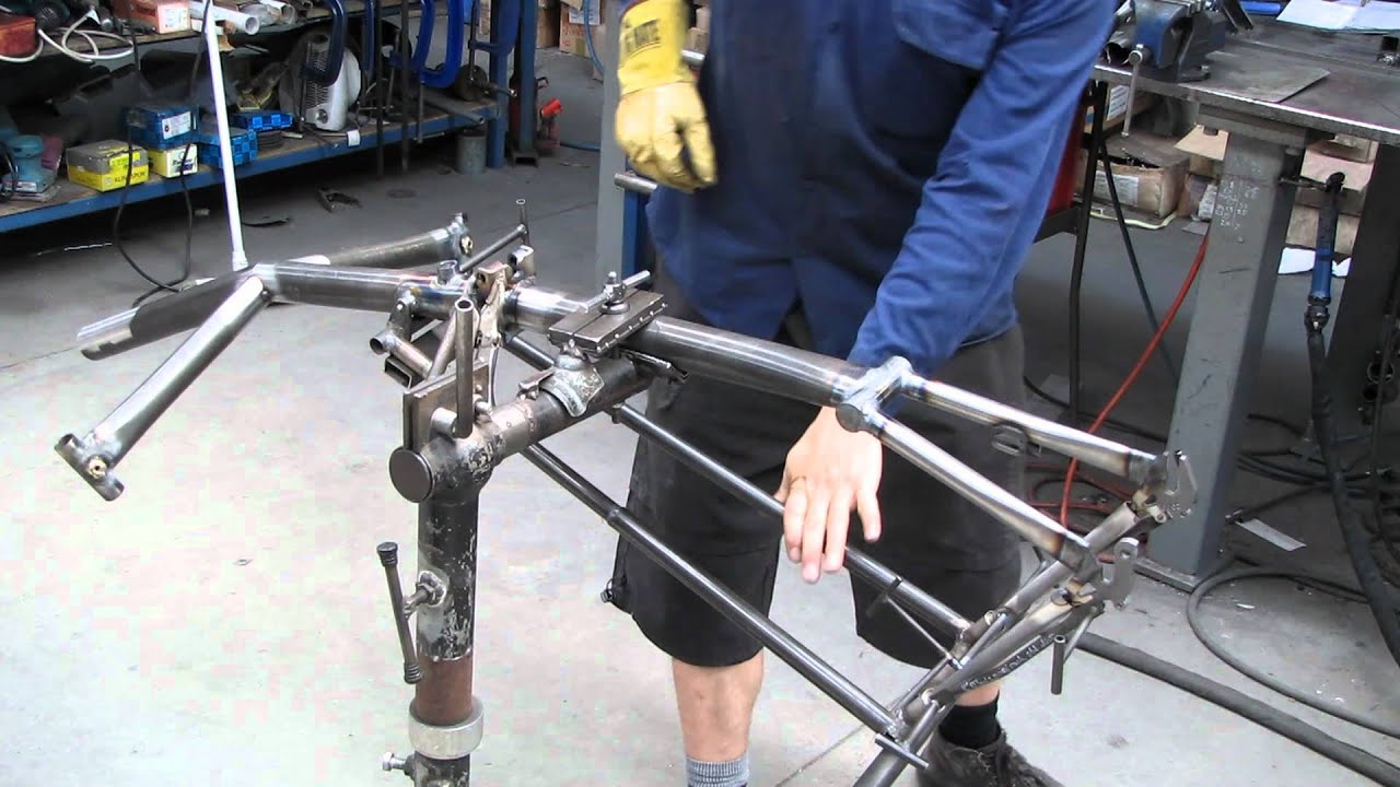 Building A Recumbent Tricycle Frame Part 2 Youtube