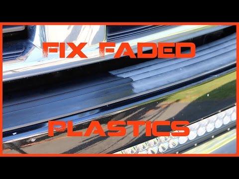 How To Fix Faded & Oxidized Plastics - Bumper & Trim on Car Truck SUV