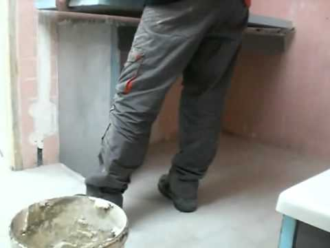 Fabrication d 39 un meuble vasque en carrelage youtube - Machine a laver sous lavabo ...