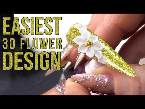 EASIEST 3D ACRYLIC FLOWER EVER!