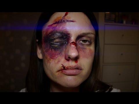 3D Swollen Black Eye U0026 Bruise SFX Halloween Makeup Tutorial - YouTube