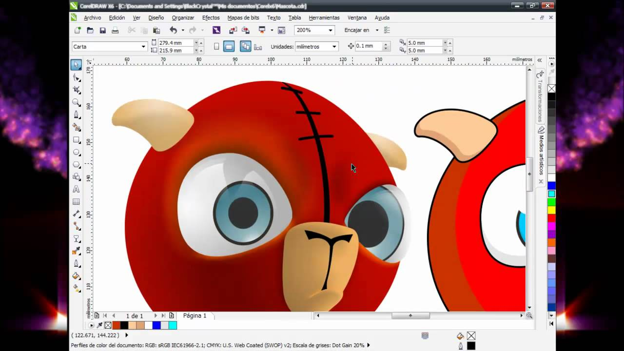 how to rotate in corel draw x6