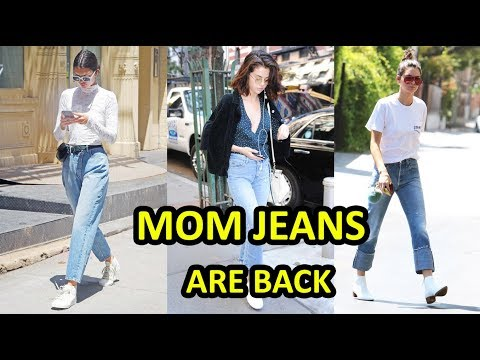 How to Wear Mom Jeans Like Kendall Jenner and Selena Gomez - Mom Jeans are BACK thumbnail
