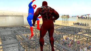 SPIDER-MAN VS Carnage - EPIC BATTLE - WWE 2K15