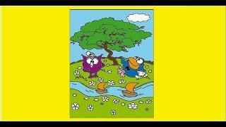 СМЕШАРИКИ Крош, Нюша, Бараш, Лосяш, Приключение Смешариков Раскраска для малышей видео для детей