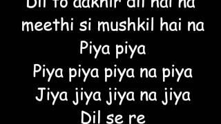 download lagu Dil Se Re Lyrics gratis