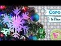 DIY: Copo de nieve para Arbolito de NAVIDAD!