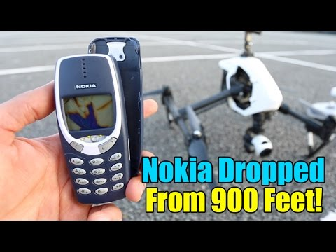 Nokia 3310 Drop Test  - Extreme 900 Feet Drop Test!