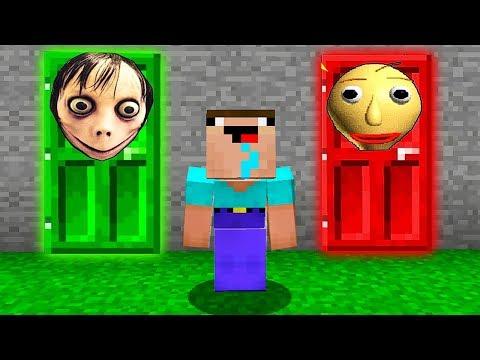 ЧТО СКРЫВАЕТСЯ ЗА СТРАШНОЙ ДВЕРЬЮ В Майнкрафте! Minecraft Мультики Майнкрафт троллинг Нуб и Про