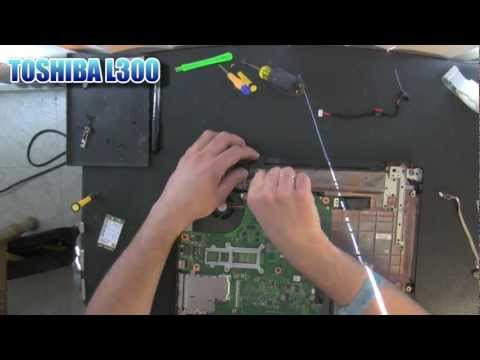 TOSHIBA Satellite L300 laptop take apart video. disassemble. how to open. video disassembly