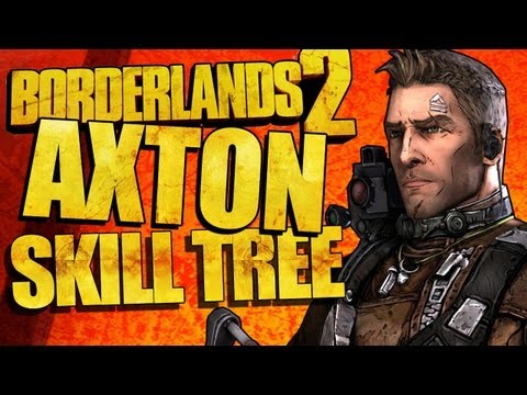 Borderlands 2: Axton Skill Tree Gameplay Walkthrough! Nuclear Turrets in the ROBOT SLAUGHTER ARENA