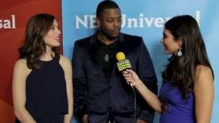 Laroyce Hawkins and Marina Squerciati from Chicago PD @ NBC Red Carpet   AfterBuzz TV Interview