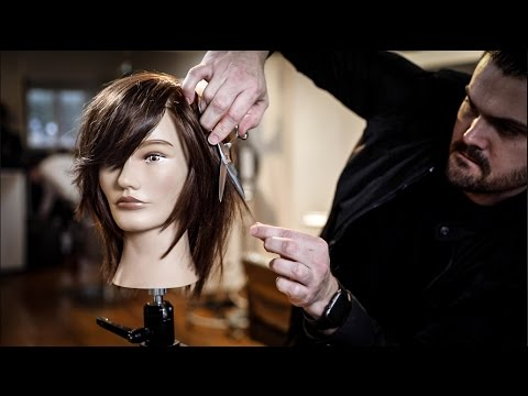 Medium Length Haircut Tutorial - Shag Haircut  with Side Bangs   MATT BECK VLOG 93
